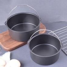 Chicken-Pot Cake-Baking-Barrel Dutch Oven Carbon-Steel for Microwave Air-Fryer Non-Stick