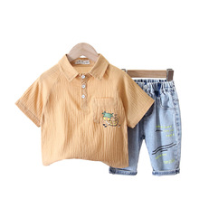 New Summer Short Sleeve Children Clothing Baby Boys Girls Cartoon T Shirt Shorts 2Pcs/sets Kids Infant Clothes Toddler Tracksuit new arrival summer toddler boys kids clothes short sleeve t shirt shorts 2 piece set baby boys girls clothing sets