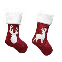 Christmas Personalized Stocking Embroidered Stockings Xmas Holding for Kids Tress Ornament Home Decor