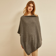 New cashmere wool blend blanket knitted rhinestone star cape 100% selected materials from Inner Mongolia