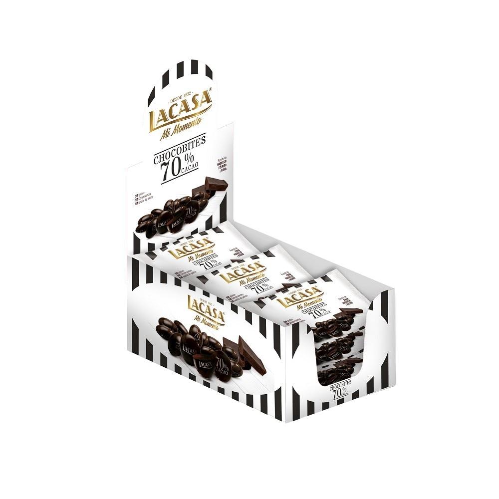 Lacasa Chocobites 70% cocoa · 14 you (40G.)