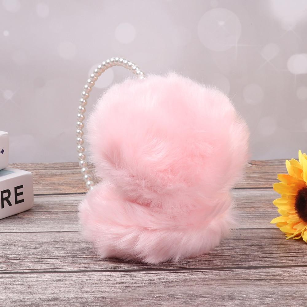 Cute Pearl Imitation Rabbit Fur Women Winter Warm Earmuffs Earwarmers Ear Muffs Earlap Girls Cotton Ear Muffs