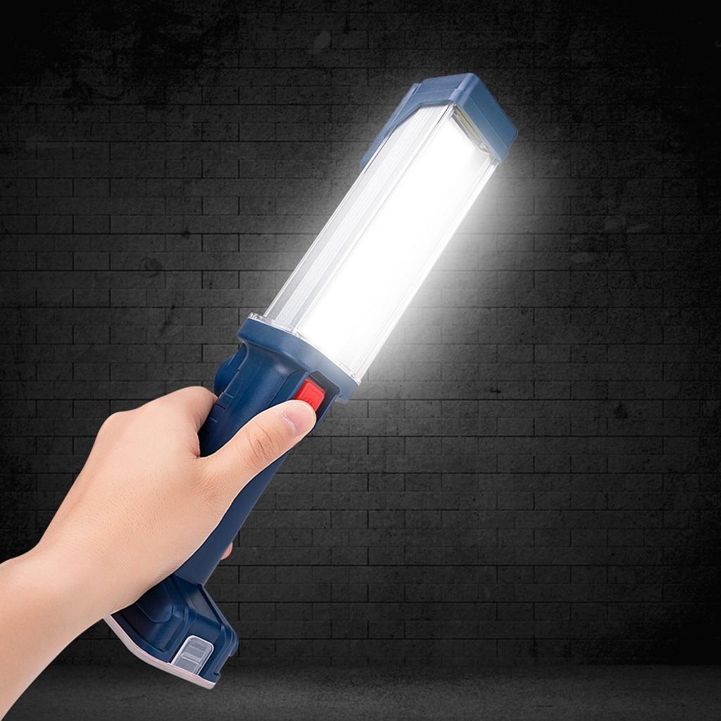 Flashlight USB COB LED Magnetic Work Light Car Garage Mechanic Home Rechargeable Torch Lamp Hot Selling Bike Light #e