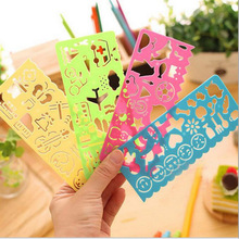 stencil ,different shap children's quick drawing ruler template stationery student learning supplies