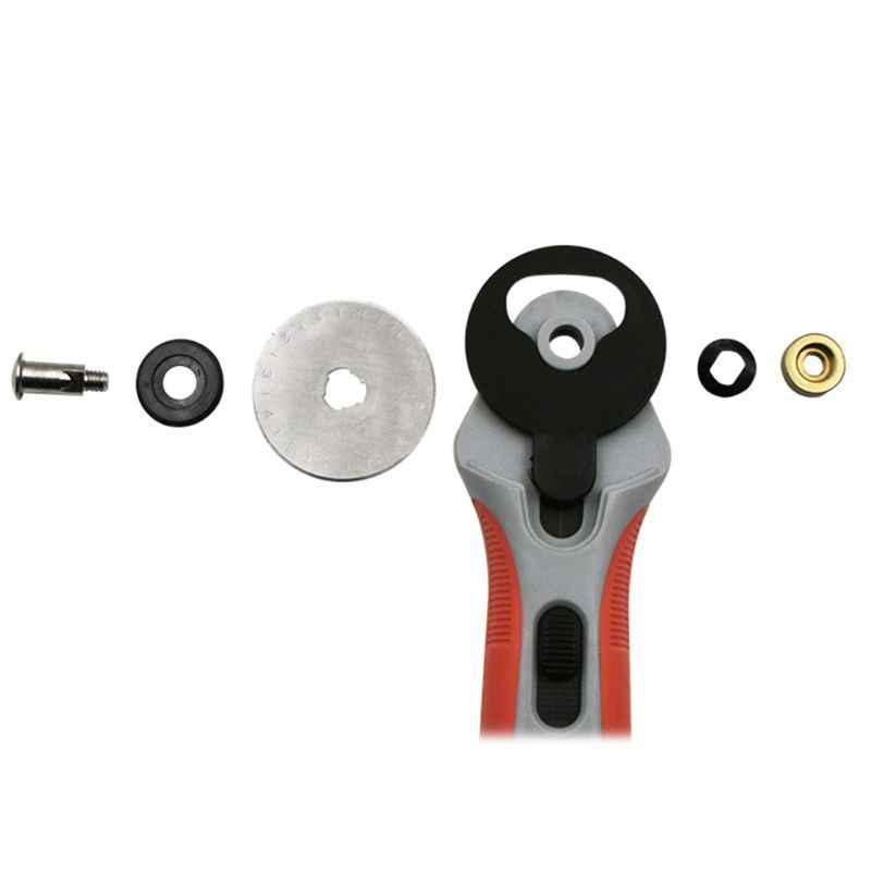 45 мм лоскутные роликовые колеса роторный круглый резак портной швейная кожа ремесло инструмент с лезвиями резки ткани бумаги 090C