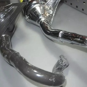 Image 4 - Exhaust pipe V8 for BWS100 4VP racing muffler 100cc tuning upgrade parts increased power bws 100