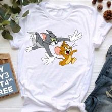 New Fashion Cat Print T Shirts Cartoon Anime Women Shirts Vogue Mouse Tshirts Casual Short Sleeves Tops Tees Feamle Clothes