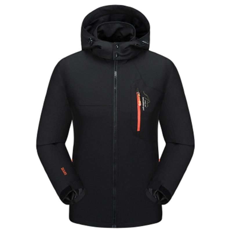 Women Men Outwear Spring Autumn Breathable Waterproof windbreaker Jacket brand Military Hoodie coats clothing size L 7XL 8XL in Jackets from Men 39 s Clothing