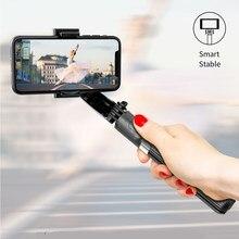 Akıllı telefon Bluetooth el Gimbal stabilizatörler Selfie sopa Tripod Anti-Shake kablosuz uzaktan kumanda uzatılabilir katlanabilir