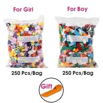 Building Blocks City DIY Creative Bricks Bulk Model   Kids Assemble Toys Compatible All Brand Small Size 6