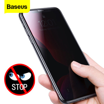 Baseus 0.3mm Screen Protector Tempered Glass For iPhone 11 Pro Max Anti Peeping Protective Glass Film For iPhone Xs Max Xr X 11