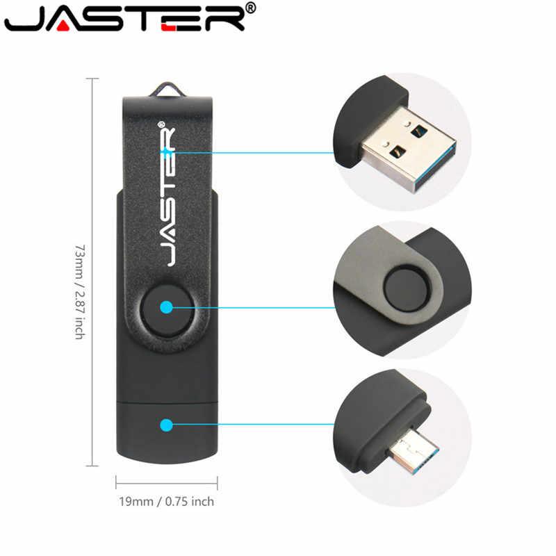 JASTER OTG USB Flash Drive 128gb de Alta Velocidade Pen Drive gb 32 64gb gb 8 16gb 4gb memory stick OTG USB 2.0 o logotipo do cliente