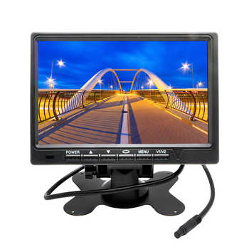 7 Inch 800*480 TFT Color LCD Screen Car Rear View Camera Monitor for Rear View Camera Auto Parking Backup Reverse Monitor System