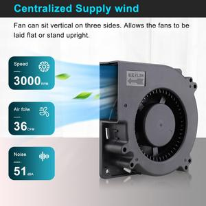 Image 4 - Лидер продаж, вентилятор 120 мм, 12 В постоянного тока, гнездовой разъем 5,5x2,1 мм, 12 см, 120x120x32 мм, 12032 центробежный охлаждающий вентилятор с адаптером питания 100 В переменного тока, 220 В