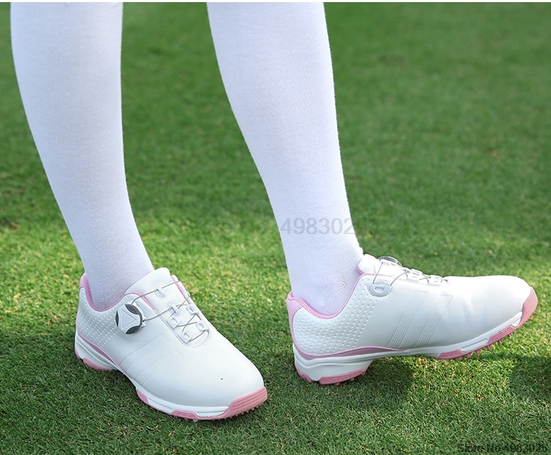 Pgm mulher spikes antiderrapante sapatos de golfe