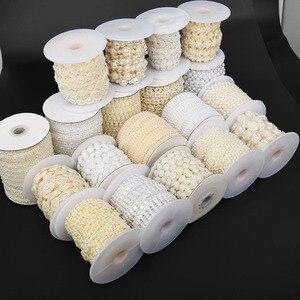 BOLIAO 2 Hof/Lot ABS Elfenbein/Weiß Imitation Perle Kunststoff Flatback Perlen Kette Trim Nähen Auf Hochzeit Patry schmuck Erkenntnisse Handwerk