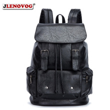 PU Travel Leisure Backpacks Vintage Men Leather Laptop Backpack Bag for Men Teenager Students Retro School Bags Casual Rucksacks цена 2017