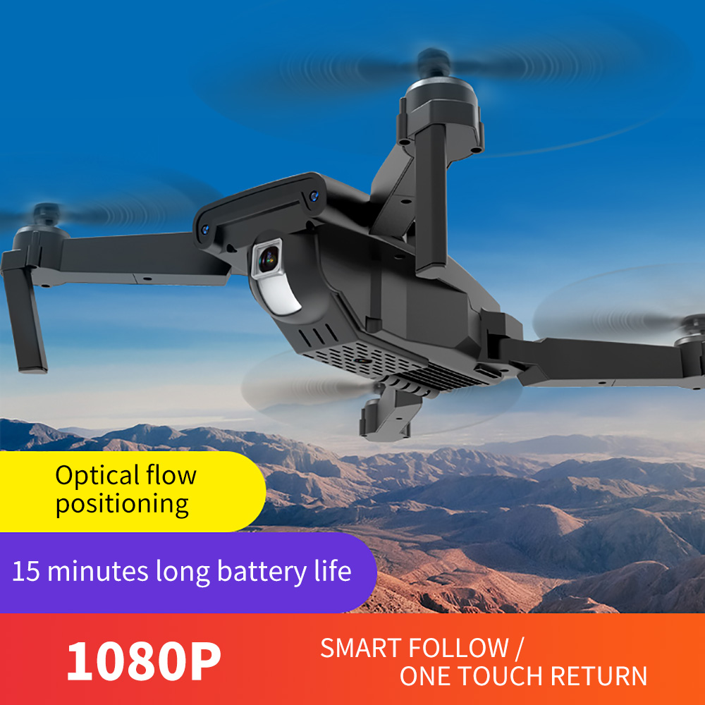 XKJ New DM106 RC Drone HD 4k Optical Flow Dual Camera Foldable Quadcopter Wifi Real Time Transmission Fpv RC Helicopters