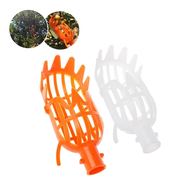 Fruit Picking Tool Greenhouse Plastic Fruit Picker Catcher Farm Garden Picking Device Garden Greenhouses Tool Without Handle