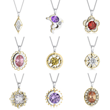 Legenstar New Fashion Creative Chain Necklace Women Pendants Charm 3D Three Layers Stainless Steel Jewelry Choker Collier Femme