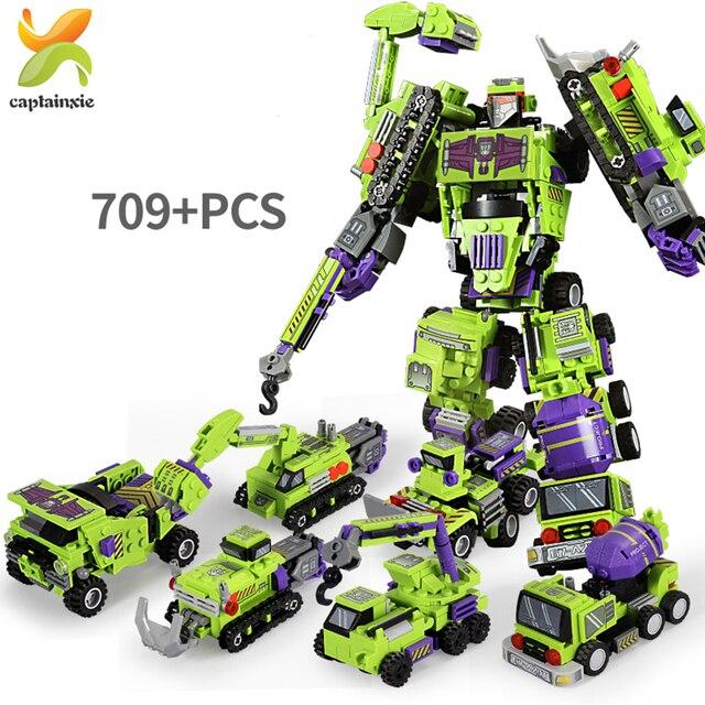 6 в 1, Детский конструктор «робот»