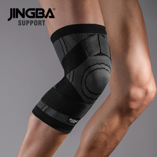 лучшая цена JINGBA SUPPORT Sport Basketball knee pads Protective gear knee protector Volleyball knee brace support rodillera ortopedica