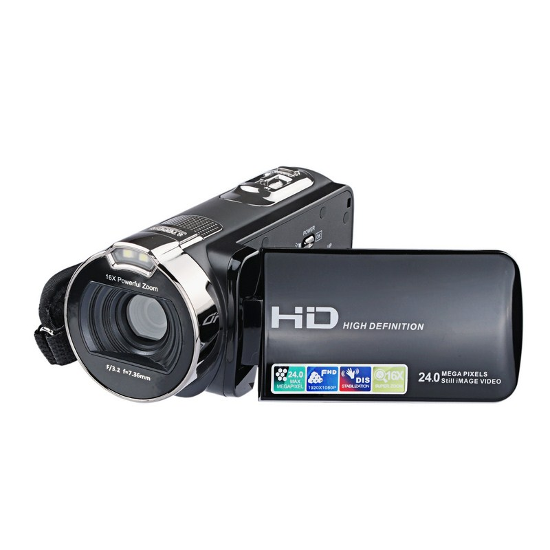 "Image 2 - HD Digital Camera Professional 16X Zoom  Digital Video Camera Camcorder Photo DSLR Camera DV 3.0"" LCD Touch Screen with Remote-in Point & Shoot Cameras from Consumer Electronics"