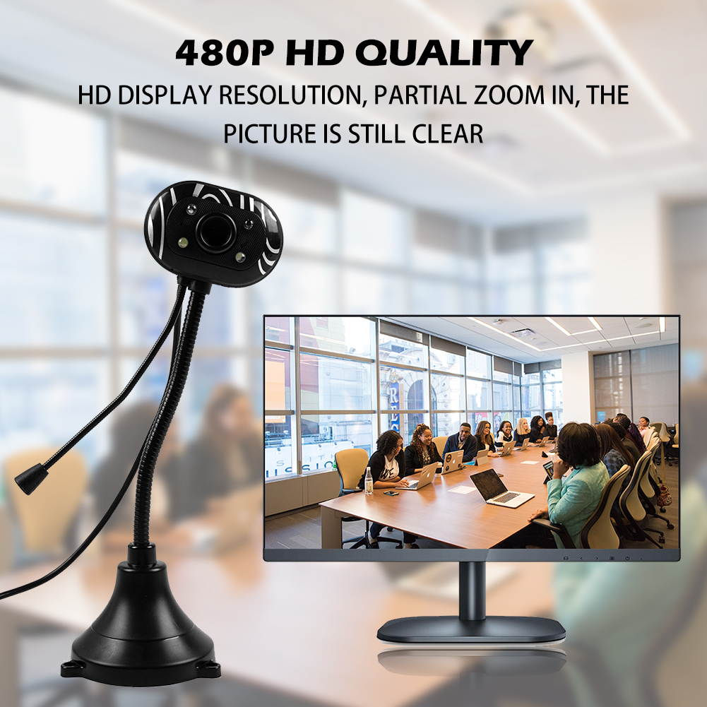 USB HD Webcam Camera Web Cam With Microphone For PC Laptop Desktop Computer