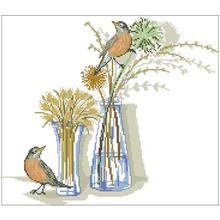 Набор для вышивки «птица с вазами» набор «сделай сам» крестиком