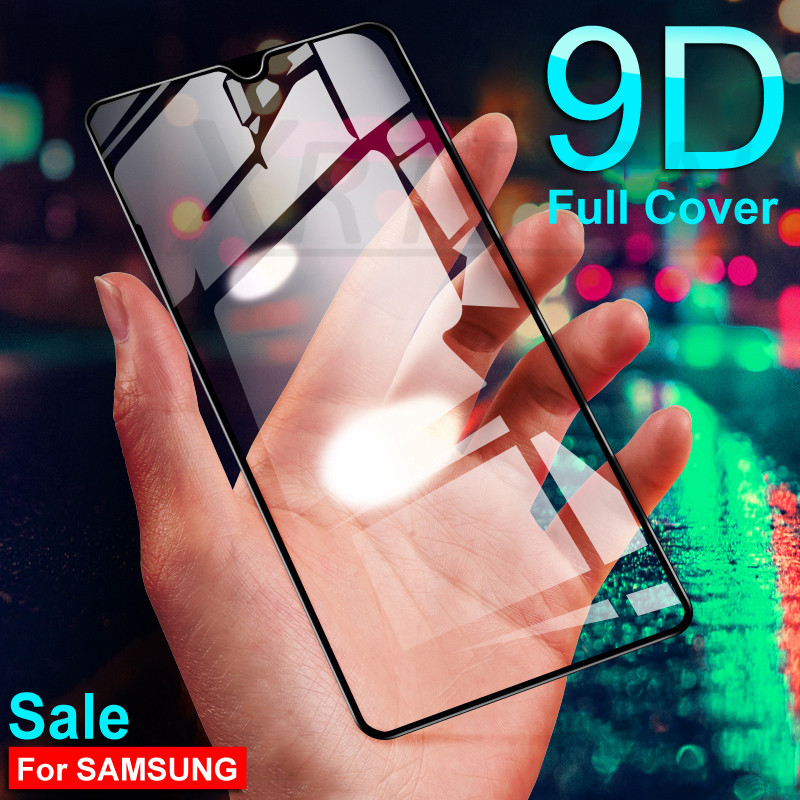 9D Protective Glass On The For Samsung Galaxy A10 A20 A30 A40 A50 A60 A70 M10 M20 M30 M40 Screen Tempered Glass Safety Film Case