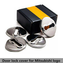 цена на 4pcs door lock cover For Mitsubishi outlander Pajero Galant FORTIS Zinger ASX Car Stainless Steel