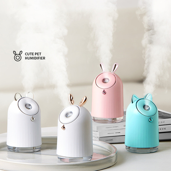 Wireless Cute Air Humidifier USB Ultrasonic Aroma Essential Oil Diffuser 800mAh Built-in battery Rechargeable Fogger Mist Maker