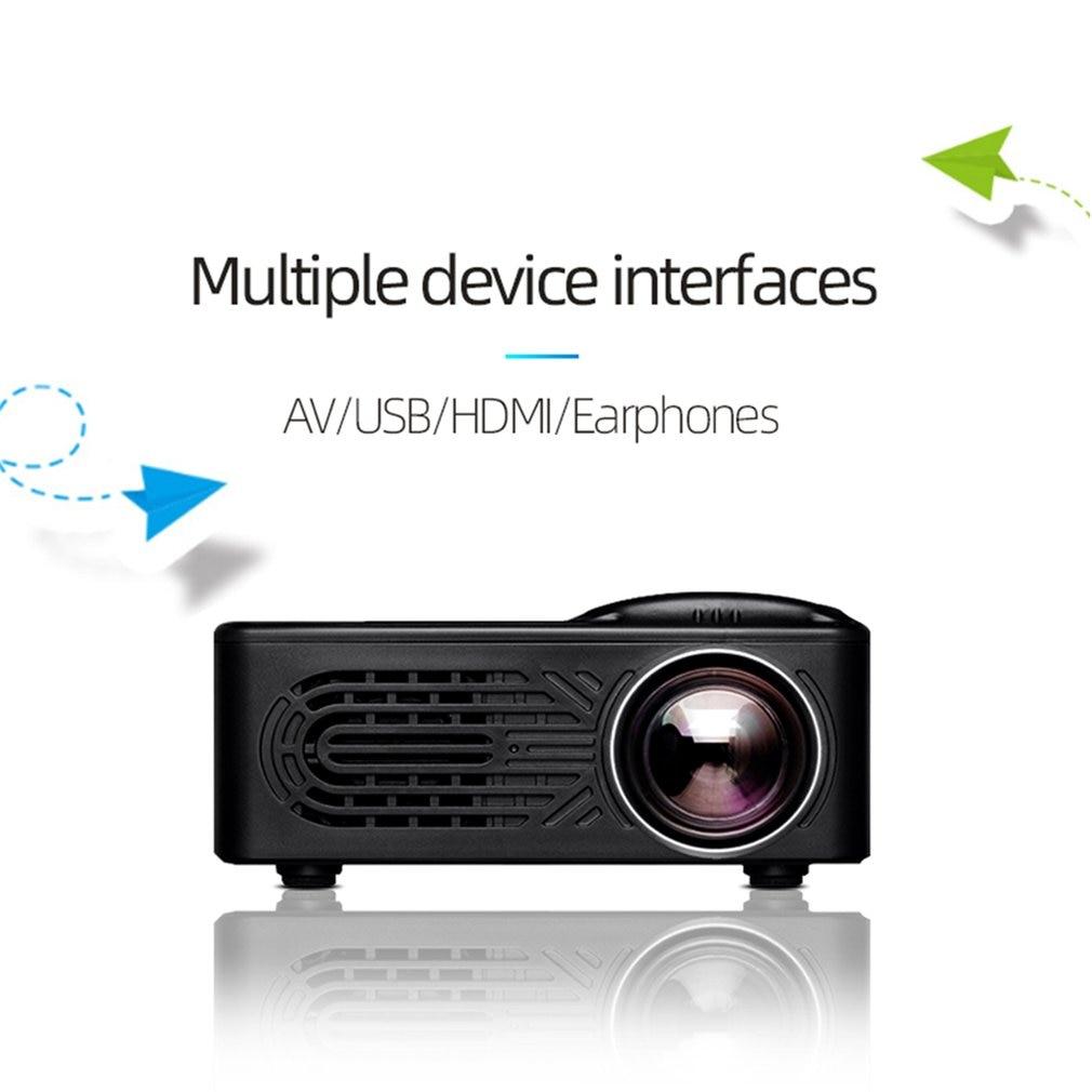 814 мини микро портативный домашний развлекательный проектор поддерживает 1080P 4K Hd Мобильный телефон подключение проектор