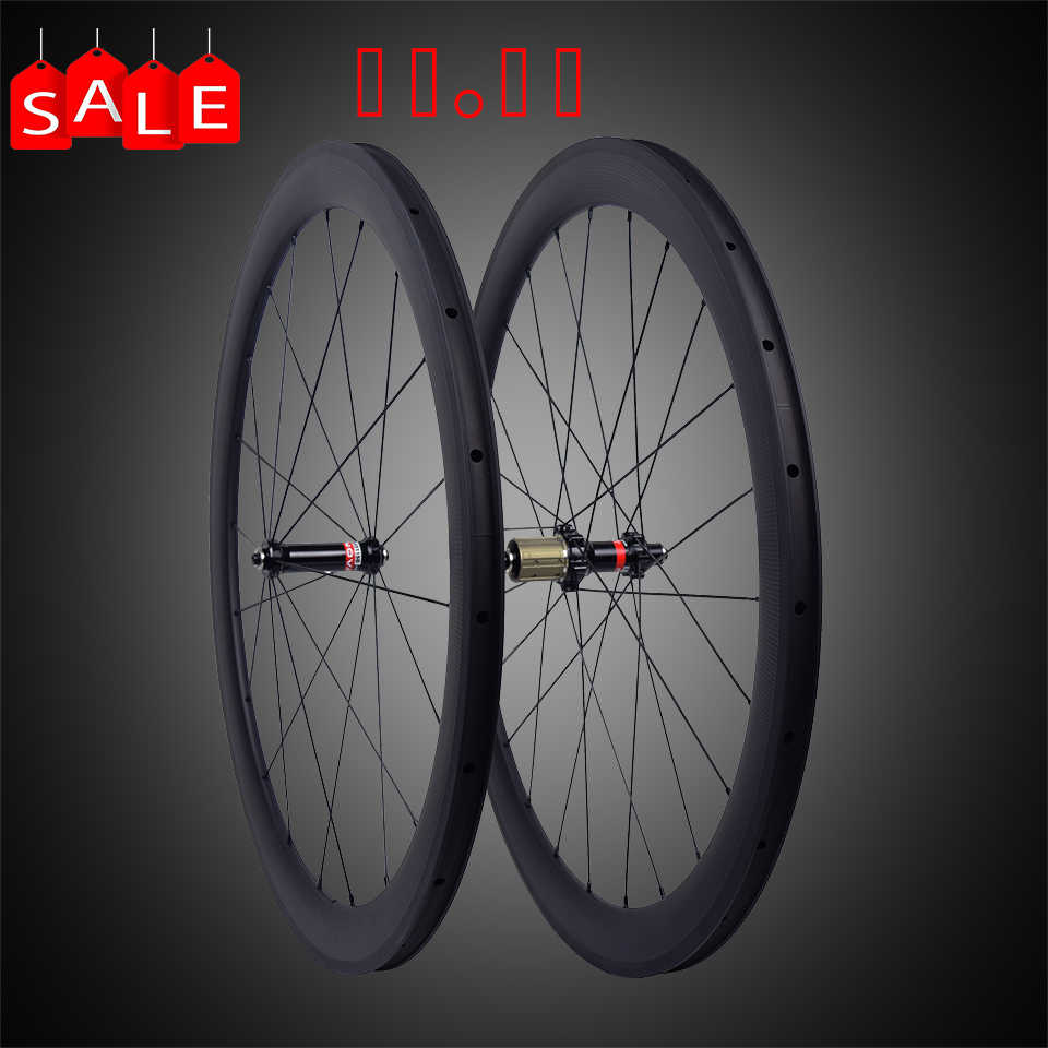 Meilleur prix Novatec 511 522 moyeu carbone roues 38mm 50mm 60mm tubulaire pneu route vélo carbone roues