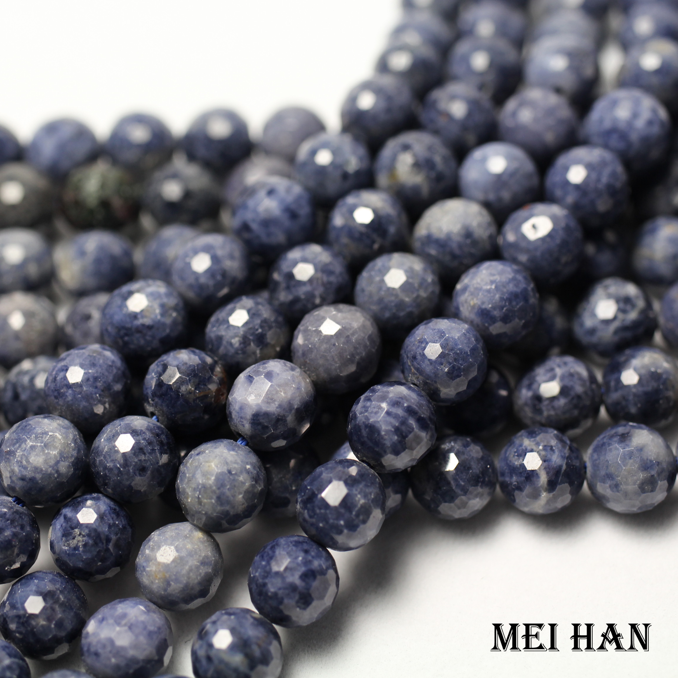Natural blue sapphiree (42 beads/set) 9mm  0.2 faceted round  loose beads for jewelry making design fashion stone diy braceletloose  beadsbeads for jewelry makingbeads for jewelry