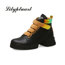 Womens shoes 2019 new fashion spring Martin boots England color matching ankle women and autumn single