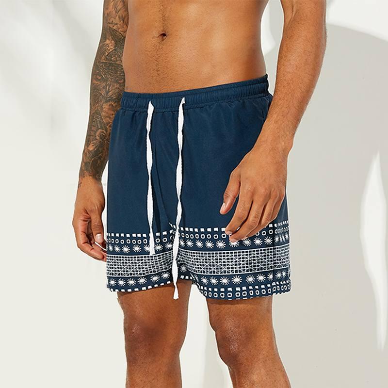 2020 Printing Mens Shorts Casual Beach Breathable Drawstring Vacation Summer Seaside Mens Board Shorts Quick Dry Shorts Hombre