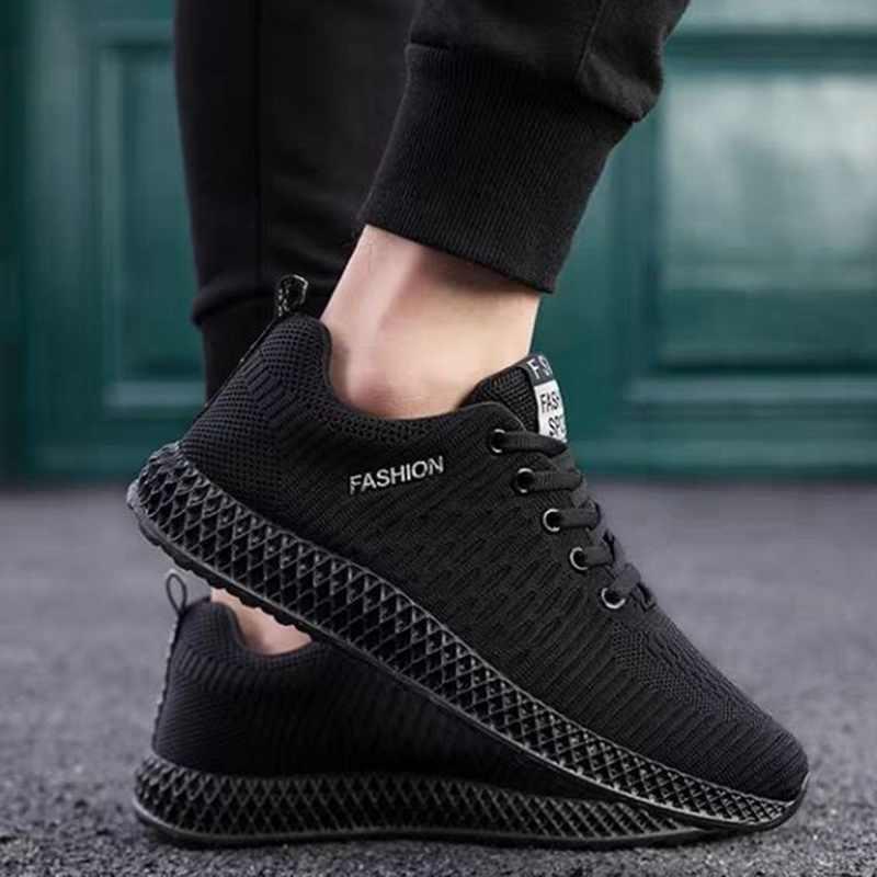 Chaussures de travail en maille respirante noir déodorant d'été pour hommes chaussures de travail de sécurité pour hommes
