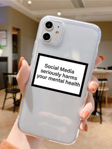 Social Media Seriously Harms Your Mental Health TPU Case For iPhone SE 2 2020 5 5S 6