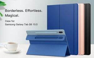 Image 5 - Akıllı Folio kılıf Samsung Galaxy Tab için S6 10.5 2019, ince hafif akıllı kabuk standı kapak, güçlü manyetik adsorpsiyon için Tab