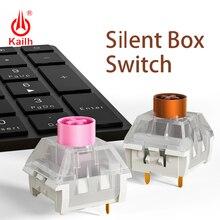 Kailhボックスサイレントスイッチメカニカルキーボードdiy rgb smdピンクブラウンスイッチ防塵IP56防水互換チェリーmx 3pin