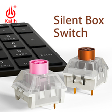 Kailh interrupteur pour clavier mécanique, silencieux, rvb, SMD, rose et brun, étanche IP56, Compatible Cherry MX, bricolage poussière