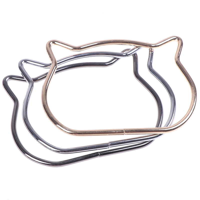 Women Cute Cat Ear Metal Bag Handles Replacement For DIY Shoulder Bags Making Casual Handbag Strap Bag Accessories