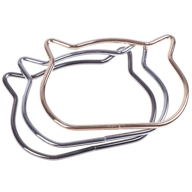 Women Cute Cat Ear Metal Bag Handles Replacement For DIY Shoulder Bags Making Casual Handbag Strap Bag Accessories