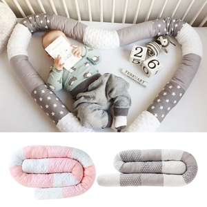 New Baby Crib Bumper Bed Soft Long Pillow Infant Cushions Newborn Cot Bumpers Crib Protector Sleep Protect Infant Room Decor