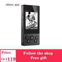 Mp3 плеер XDuoo X3II X3 II USB DAC Bluetooth 4,0 AK4490 порт able HIFI музыкальный mp3 плеер DSD128 без потерь/WAV/ FLAC USB порт