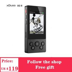 Image 1 - XDuoo X3II X3 II USB DAC Mp3 Player Bluetooth 4.0 AK4490 Portable HIFI Music MP3 Player DSD128 Lossless /WAV/ FLAC USB Port