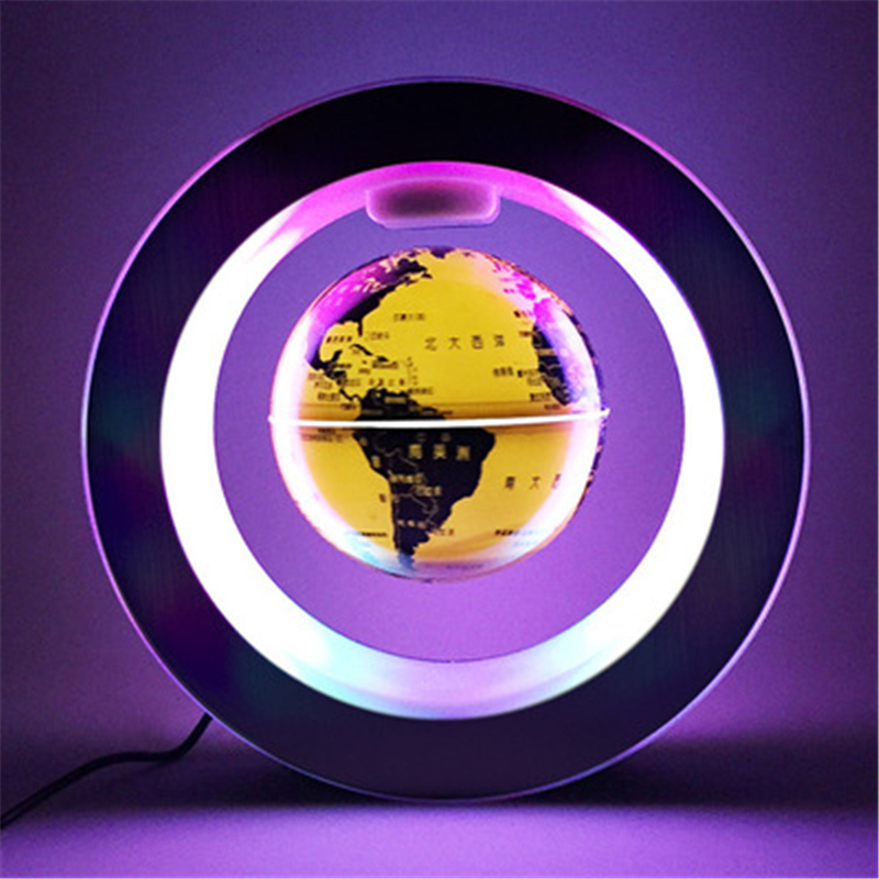 Novelty Led Night Floating Globe Magnetic Levitation Light O Shape LED World Map Antigravity Magic Novel