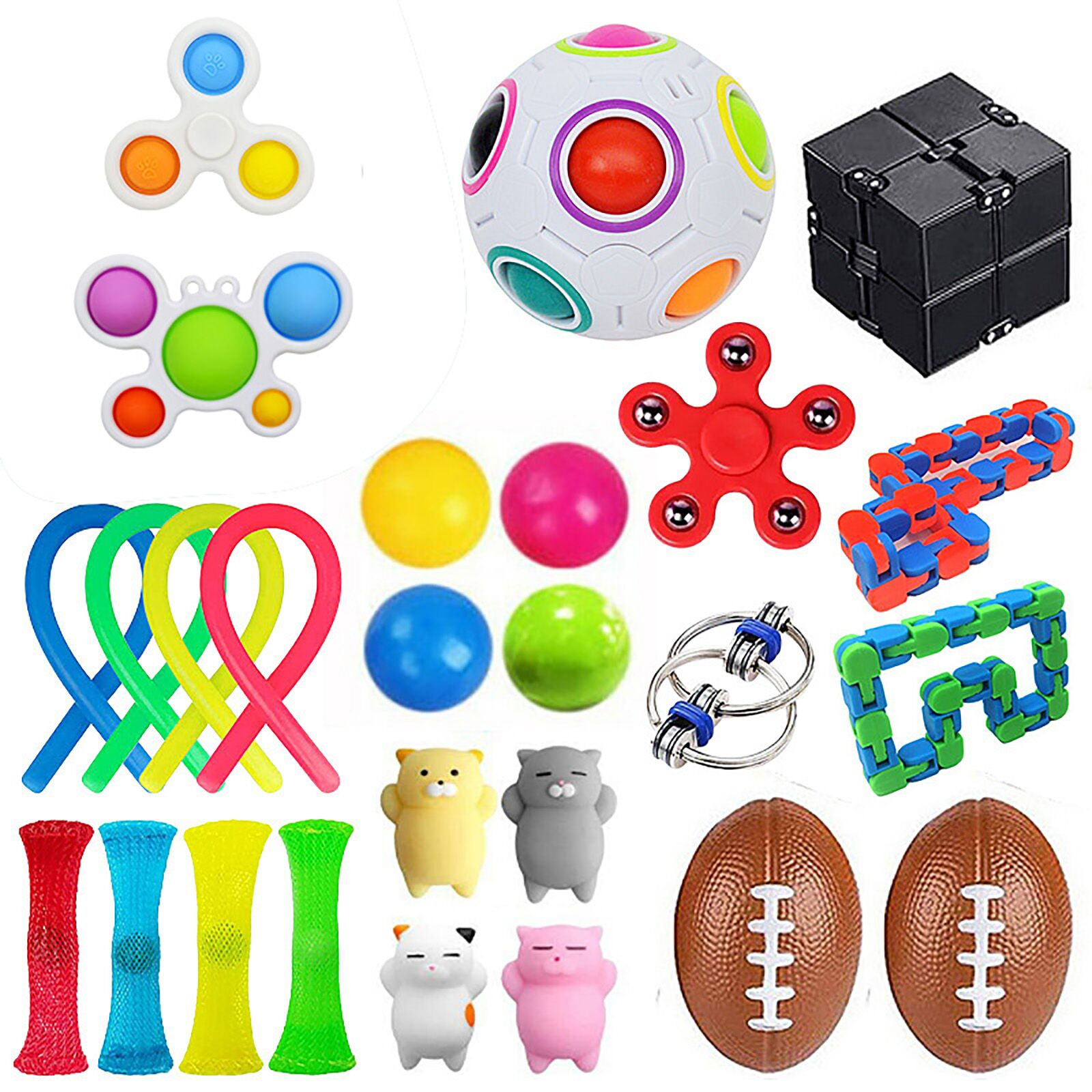 25PCS Toy Set Cheap Sensory Toys Pack for Kids or Adults Figetget Toys Pack Figit Toys img5
