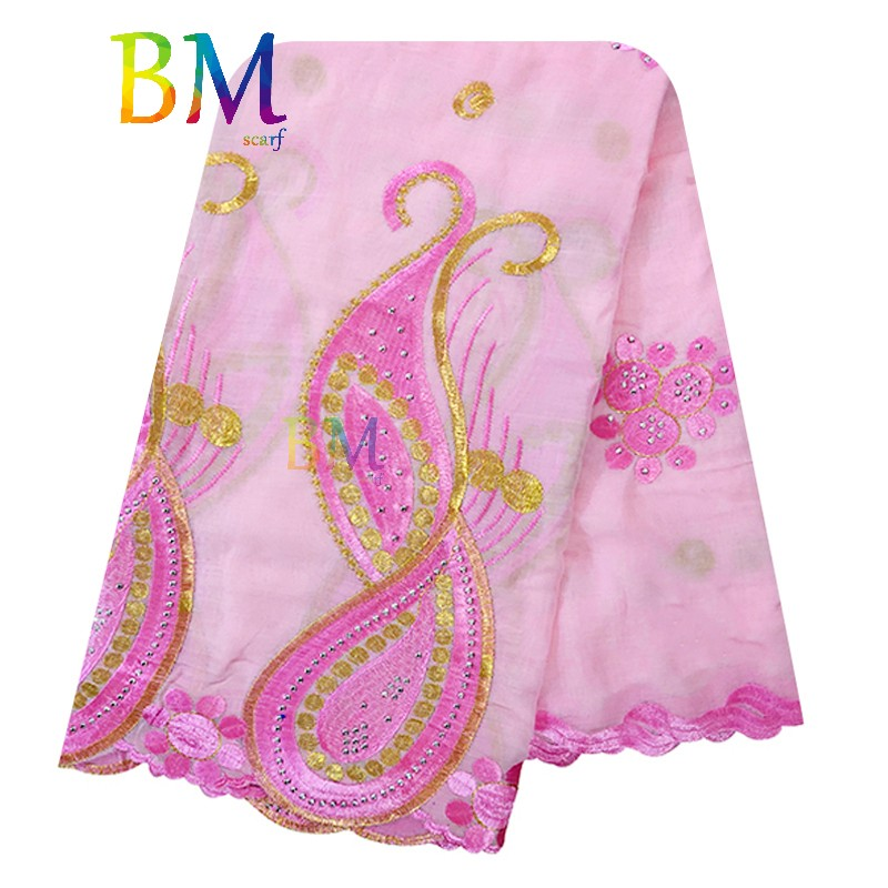 New African Women Scarfs Muslim Embroidery Economic Cotton Big Scarf For Shawls Wraps BX130